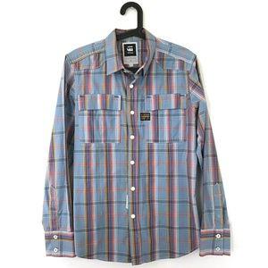 G-Star Raw Railroad plaid button down shirt Large